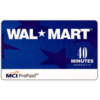 Phonecard for sale: MCI - Wal Mart, 40 minutes