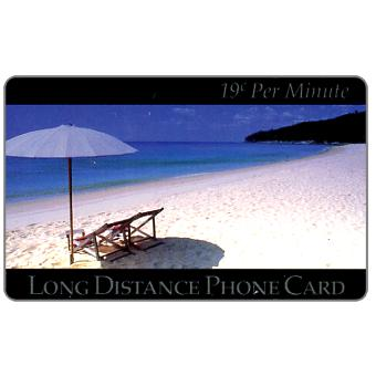 Phonecard for sale: New Media Telecommunications - Beach, 19 c. per minute