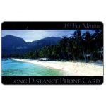 The Phonecard Shop: U.S.A., New Media Telecommunications - Tropical Beach, 19 c. per minute