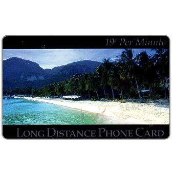 Phonecard for sale: New Media Telecommunications - Tropical Beach, 19 c. per minute