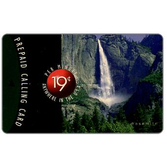 Phonecard for sale: New Media Telecommunications - Yosemite waterfall, 19 c. per minute Anywhere in the U.S.A.