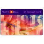 The Phonecard Shop: U.S.A., Pacific Bell - Floating numbers, $5