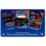 The Phonecard Shop: U.S.A., Global Link - Premier Telecard Magazine first anniversary, $5