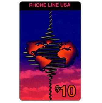 Phone Line USA - Connecting the World, $10