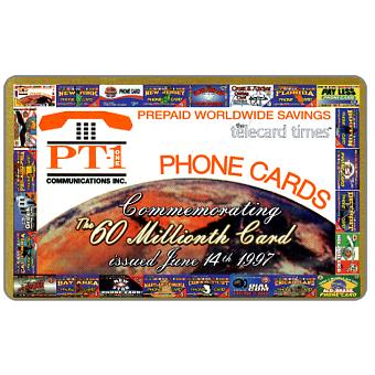 PT1 Communications - 60th Millionth Card, collectors edition