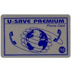 The Phonecard Shop: U-Save Premium - Silver card, $10