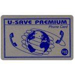 The Phonecard Shop: U.S.A., U-Save Premium - Silver card, $10