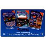 The Phonecard Shop: U.S.A., Comid - Premier Telecard Magazine first anniversary, $5