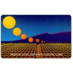 The Phonecard Shop: Teraco - Grid with yellow sun and mountains, specimen
