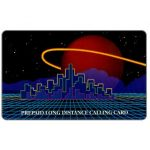 The Phonecard Shop: U.S.A., Teraco - Ringed planet over city, specimen