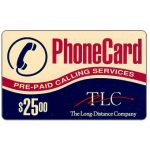 The Phonecard Shop: TLC - Prepaid Calling Services, $25