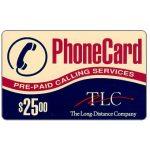 The Phonecard Shop: U.S.A., TLC - Prepaid Calling Services, $25