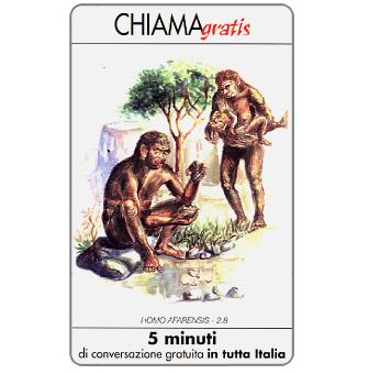 Phonecard for sale: Homo afarensis, 5 min.