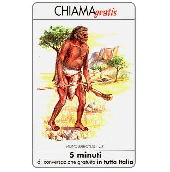 Phonecard for sale: Homo Erectus, 5 min.