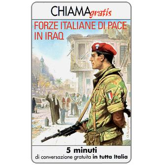 Phonecard for sale: Forze italiane di pace in Iraq 1, 5 min.