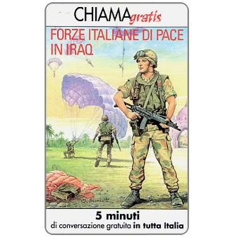 Phonecard for sale: Forze italiane di pace in Iraq 2, 5 min.