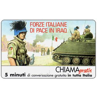 Phonecard for sale: Forze italiane di pace in Iraq 4, 5 min.
