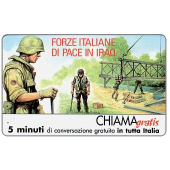 Phonecard for sale: Forze italiane di pace in Iraq 5, 5 min.