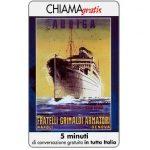 The Phonecard Shop: Italy, Manifesti Compagnie Marittime 6/12, 5 min.