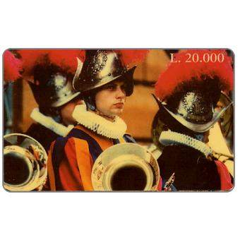 Phonecard for sale: Compagnia Telefonica Italiana per il Giubileo - Swiss guards, L.20000