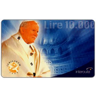 Phonecard for sale: Interoute - Papa Giovanni Paolo II (cyan background), L.10000