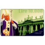 The Phonecard Shop: Interoute - Papa Giovanni Paolo II (green background), L.10000