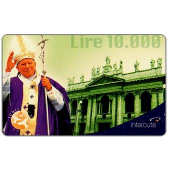 Phonecard for sale: Interoute - Papa Giovanni Paolo II (green background), L.10000