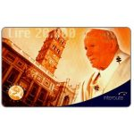 The Phonecard Shop: Interoute - Papa Giovanni Paolo II (orange background), L.10000