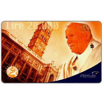 Phonecard for sale: Interoute - Papa Giovanni Paolo II (orange background), L.10000