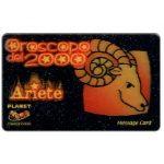 The Phonecard Shop: Italy, Planet Communication - Zodiac, Ariete, 1 unit