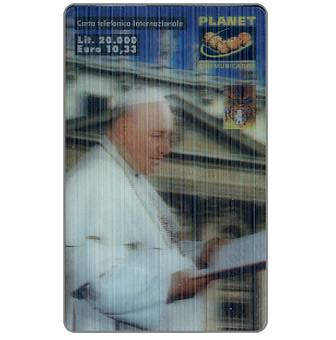 Phonecard for sale: Planet Communication - Pope Giovanni XXIII, 3D card, L.20000