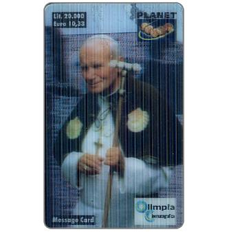 Phonecard for sale: Planet Communication - Papa Giovanni Paolo II, 3D card, L.20000