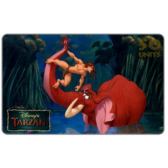 Phonecard for sale: Westel Intelcom - Disney's Tarzan, Tarzan and Elephant, 50 units