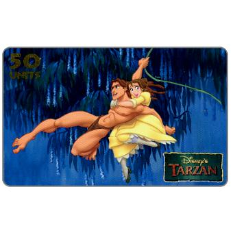 Phonecard for sale: Westel Intelcom - Disney's Tarzan, Flying Tarzan, 50 units