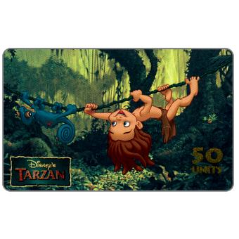 Phonecard for sale: Westel Intelcom - Disney's Tarzan, Young Tarzan, 50 units
