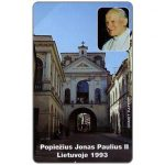 The Phonecard Shop: Lithuania, First issue, John Paul II's Visit to Lithuania, 25 units