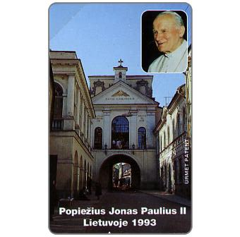 Phonecard for sale: First issue, John Paul II's Visit to Lithuania, 25 units