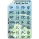 The Phonecard Shop: Lithuania, Telephone codes, 25 units
