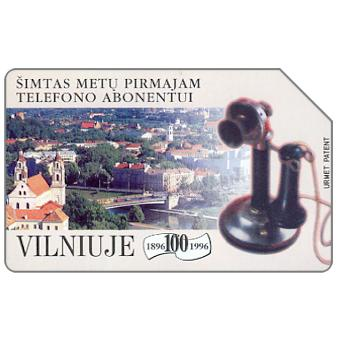 Phonecard for sale: 100 years of Vilnius Telephone, 100 units