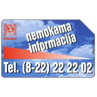 Phonecard for sale: Info Hansa, 25 units