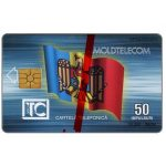 Phonecard for sale: First issue, Moldova flag, monument, 09.94, 50 units