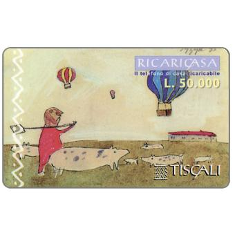 Phonecard for sale: Ricaricasa, Mongolfiere, L.50000