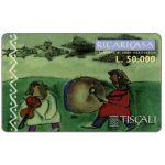 The Phonecard Shop: Italy, Tiscali, Ricaricasa, Tamburo e violino, L.50000