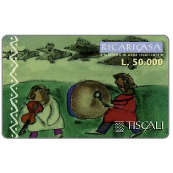 Phonecard for sale: Ricaricasa, Tamburo e violino, L.50000