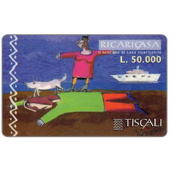 Phonecard for sale: Ricaricasa, Uomo disteso, L.50000