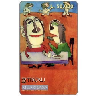 Phonecard for sale: Ricaricasa, A tavola, L.50000