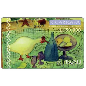 Phonecard for sale: Ricaricasa, Picnic in campagna, L.50000