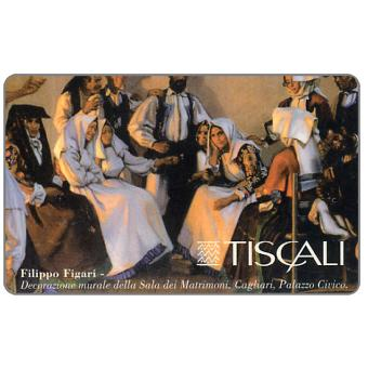 Phonecard for sale: F.Figari - Decoraz. Murale Sala Matrimoni, L.20000