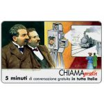 Phonecard for sale: Personaggi n. 102 – F.lli Lumiere - Augusto e Louis, 5 min.