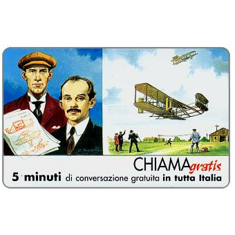 The Phonecard Shop: Italy, Personaggi n. 105 – Fratelli Wright - Wilburg e Orville, 5 min.